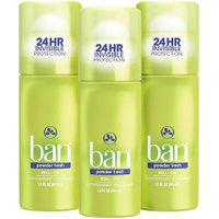 Ban Kit Desodorante Antitranspirante Roll-On 44Ml Trio - Powder Fresh