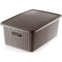 Caixa Organizadora Texturizada- Marrom Claro- 22,3X2Ordene