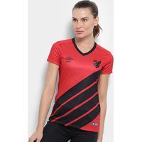 Camisa Athletico Paranaense I 19/20 S/Nº Torcedor Umbro Feminina - Feminino