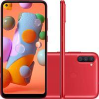 Smartphone Samsung Galaxy A11 64Gb 3Gb Ram A115 Vermelho