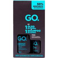 Kit Shampoo De Barba Fresh Go 140Ml + Óleo De Barba Fresh Go 25Ml - Masculino-Incolor