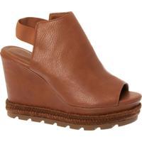 Anabela Sandal Boot Wisk Com Detalhe Em Corda