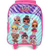 Mochila Infantil Lol Com Rodinhas - Feminino-Pink