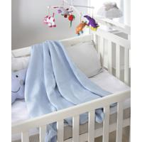 Cobertor Infantil Jolitex Algodã£O Premium Azul 0,80 X 0,90 - Azul - Menino - Dafiti