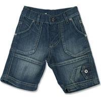Bermuda Infantil Ano Zero Índigo Stambul Masculina - Masculino-Jeans