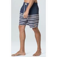 Bermuda Surf Masc Ink Stripe-Marinho/ Cru - 38