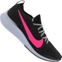 Tênis Nike Zoom Fly Fk - Feminino - Preto/Rosa Esc
