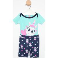 Pijama Unicórnios - Azul Claro & Azul Escuropuket