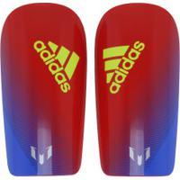 Caneleira De Futebol Adidas Lesto Messi 10 - Adulto - Vermelho/Azul