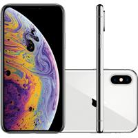 "Iphone Xs Max Apple Prata 64Gb Tela Super Retina Hd 6.5"" Câmera Dupla"