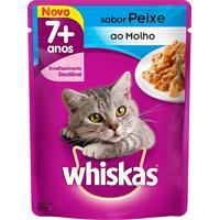 Ração Para Gatos Whiskas Adulto 7+ Anos Sachê Sabor Peixe Ao Molho Com 85G
