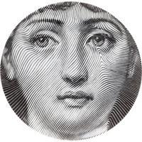 Fornasetti Prato Decorativo De Porcelana - Cinza