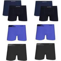 Kit 8 Cuecas Boxer Lupo Microfibra Sem Costura Masculina - Masculino