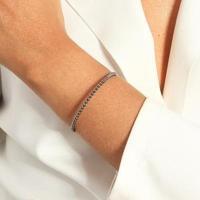 Bracelete De Bolinhas Lisas - Feminino-Prata