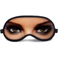 Máscara De Dormir Tritengo Maquiagem - Unissex-Bege+Preto