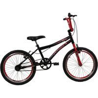 Bicicleta Aro 20 Atx Top Preta E Vermelho Athor Bike