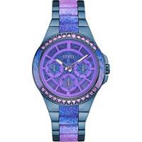 Relógio Guess Feminino Aço Azul - W0945L3