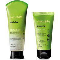 Combo Nativa Spa Matcha: Sabonete Líquido Esfoliante, 200Ml + Máscara Facial, 70G