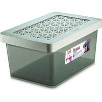 Caixa Organizadora Multiuso- Cinza- 8,5L- Ordeneordene