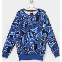Blusa Infantil Tigor T. Tigre Estampada Masculina - Masculino-Azul