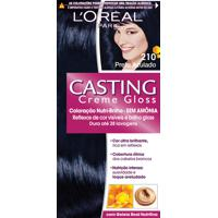 Coloração Permanente Casting Creme Gloss N° 210 Preto Azulado L'Oréal 1 Unidade