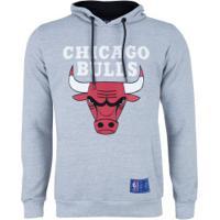 Blusão De Moletom Com Capuz Nba Chicago Bulls N157A - Masculino - Mescla
