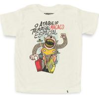 O Ataque Do Terrível Macaco Espacial - Camiseta Clássica Infantil