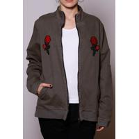 Jaqueta Bomber Spike Rose