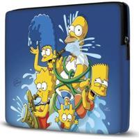 Capa Para Notebook Simpsons Azul 15 Polegadas - Unissex