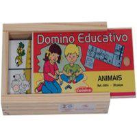 Dominó Educativo Animais - Carimbrás - Brinquedo Educativo