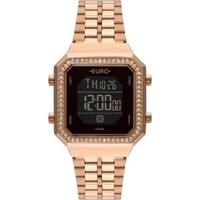 Relógio Euro Fashion Fit Digital Eubjk032Aa/4P 34Mm Aço Feminino - Feminino-Rosê
