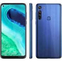 Smartphone Motorola Moto G8 64Gb Azul Capri 4G - Unissex-Azul