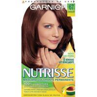 Tintura Garnier Nutrisse 67 Chocolate Louro Escuro Dourado - Unissex-Incolor