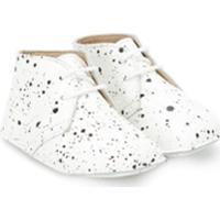 Gallucci Kids Sapato Com Efeito Respingos De Tinta - Branco