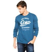 Moletom Coca-Cola Jeans Regular Azul