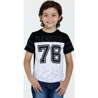 Camiseta Infantil Estampa Frontal Recorte Marisa