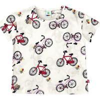Blusa Bicicletas- Branca & Vermelhapuc