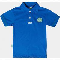 Camisa Polo Azul Palmeiras Infantil - Masculino