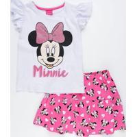 Conjunto Infantil Minnie Glitter Disney