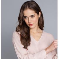 Blusa Manga Longa Ampla Rosa Secreto - Lez A Lez