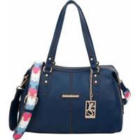 Bolsa Fellipe Krein Bucket Feminina - Feminino-Azul Escuro