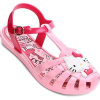 Sandália Infantil Grendene Hello Kitty Aranha Colors Feminina - Feminino-Rosa