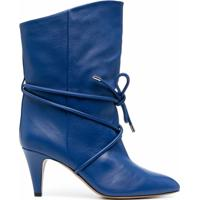 Isabel Marant Bota Cano Médio Com Cadarço - Azul