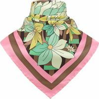 Fendi Lenço Com Estampa De Flores - Rosa