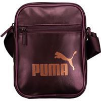 Bolsa Puma Core Up Portable Feminina Roxa