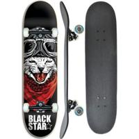 Skate Completo Profissional Black Star Cat 7.8 - Unissex