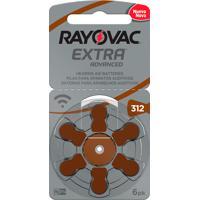 Bateria Para Aparelho Auditivo Rayovac Extra Advanced Tamanho 312 Com 6 Unidades