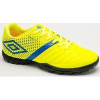 Chuteira Society Spirity- Amarelo Neon & Azul- Umbroumbro