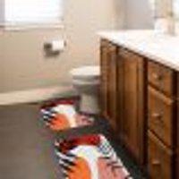 Jogo Tapetes Para Banheiro 2 Peças Artes Boho Abstrata Único