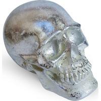 Cofre Crânio Skull Geek10 Prata